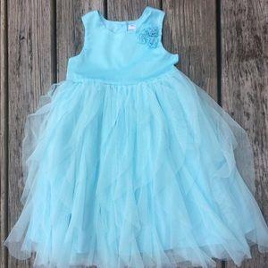 Carter's Blue Tulle Sleeveless Flowergirl Dress